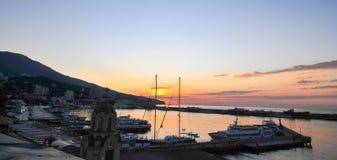 Yalta Beach at Dawn, Crimea Stock Photos