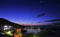 Yalta Beach at Dusk, Crimea Royalty Free Stock Photo