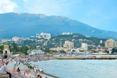 yalta Bezirk des Dammes vorgesehen für das Gehen Lizenzfreies Stockbild