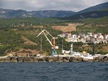 Yalta cargo trade seaport, Crimea Royalty Free Stock Photo