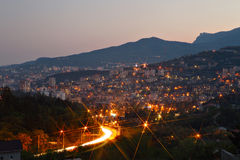 Yalta city lights Stock Image