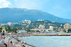 Yalta. District of Embankment destined for walking. Crimea. Yalta. District of Embankment destined for walking Royalty Free Stock Image