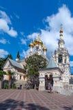 Yalta domkyrka av St Alexander Nevsky crimea arkivfoto