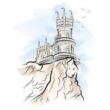 Yalta dymówki gniazdeczka wektoru ilustracja Zdjęcie Royalty Free