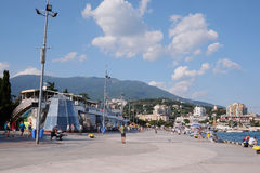 Yalta embankment Royalty Free Stock Images
