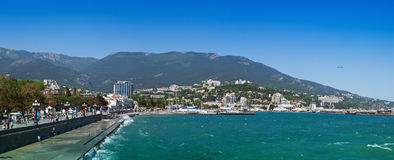 Yalta embankment Royalty Free Stock Photos