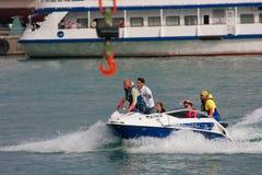 Yalta Grand Prix Powerboat P1 2010. YALTA, UKRAINE - MAY 9: Rescue team on Yalta Grand Prix Powerboat P1 2010, May 9, 2010 in Yalta, Ukraine Stock Photography