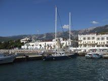 Yalta, haven Stock Foto