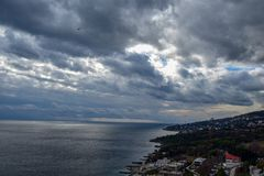 Yalta i Krim arkivfoton