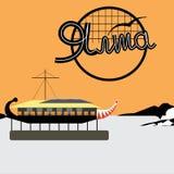 Yalta la naranja del restaurante de la nave del terraplén Foto de archivo