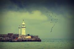Yalta lighthouse_v1 Royaltyfri Foto