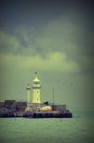Yalta lighthouse_v Arkivbild