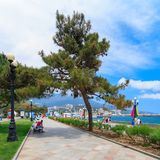 YALTA - MAY 17:People are walking along Embankment Stock Images