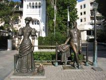 Yalta, monumento a Chehov Immagine Stock