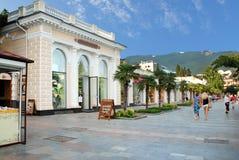 yalta Område av invallningen som är destinerat för att gå Royaltyfria Bilder