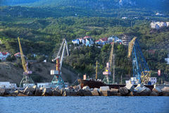 Yalta port Royalty Free Stock Photos