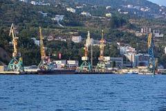 Yalta port Royalty Free Stock Image