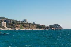 Yalta, the Republic of Crimea. View of the city from the sea. Resort Yalta, the Republic of Crimea. View of the city from the sea stock photos