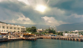 Yalta resort town in the southern Crimea. Russia. Royalty Free Stock Photography