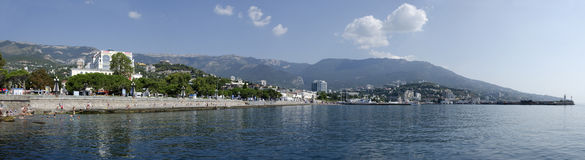 Yalta seafront Royalty Free Stock Images