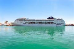 YALTA UKRAINA, MAJ, - 21: MSC Lirica statek wycieczkowy Fotografia Royalty Free