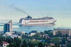 YALTA UKRAINA, MAJ, - 21: MSC Lirica statek wycieczkowy Zdjęcia Stock