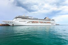 YALTA, UKRAINE - APRIL 21: MSC Lirica cruise ship Stock Photos