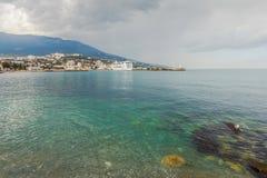 YALTA, UKRAINE - APRIL 22. MSC Lirica in Yalta Royalty Free Stock Images