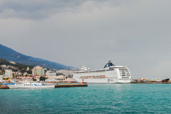 YALTA, UKRAINE - APRIL 22. MSC Lirica in Yalta Royalty Free Stock Image