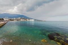YALTA, UKRAINE - APRIL 22. MSC Lirica in Yalta Royalty Free Stock Photo