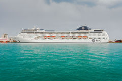 YALTA, UKRAINE - APRIL 22. MSC Lirica in Yalta Royalty Free Stock Photo