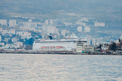 YALTA, UKRAINE - APRIL 22. MSC Lirica in Yalta Stock Image