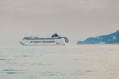 YALTA, UKRAINE - APRIL 22. MSC Lirica in Yalta Royalty Free Stock Photography