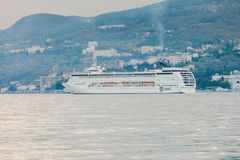 YALTA, UKRAINE - APRIL 22. MSC Lirica in Yalta Stock Photography