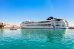 YALTA, UKRAINE - MAY 21: MSC Lirica cruise ship Royalty Free Stock Photography