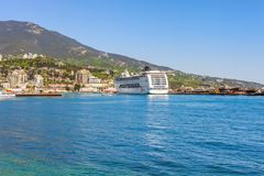 YALTA, UKRAINE - MAY 21: MSC Lirica cruise ship Stock Photo