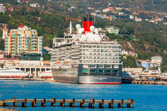 YALTA, UKRAINE - OCTOBER 7: First visit of the Queen Elizabeth s Royalty Free Stock Image