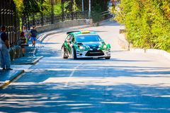 YALTA, UKRAINE - SEPTEMBER 14: Yuriyi Protasov drives his Ford F Royalty Free Stock Photos