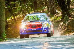 YALTA, UKRAINE - SEPTEMBER 15: Mykola Chmykh drives his Subaru I Stock Photo