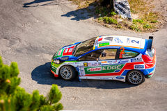 YALTA, UKRAINE - SEPTEMBER 15: Yagiz Avci drives his Ford Fiesta Stock Photos