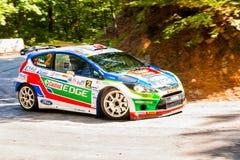 YALTA, UKRAINE - SEPTEMBER 15: Yagiz Avci drives his Ford Fiesta stock photos