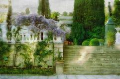 Yalta- urban landscape paint Stock Image