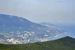 Yalta view from Mountain Ai-Petri Stock Images