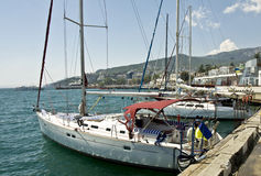 Yalta, yachts Stock Photos