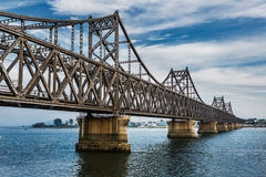 Yalu rzeka -- Chiny DPRK granica Obrazy Stock