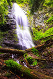 Yalynsky cade, più alta cascata di ucranino Carpathians (1050 Fotografie Stock