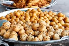 Yam ball fried Stock Photo