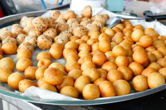 Yam ball fried Royalty Free Stock Images