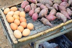 Yam en eieren Stock Foto's