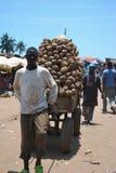 Yam Market como o negócio fotos de stock royalty free
